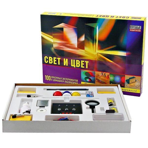 Купить Набор для опытов Научные развлечения Свет и цвет в интернет магазине игрушек и детских товаров