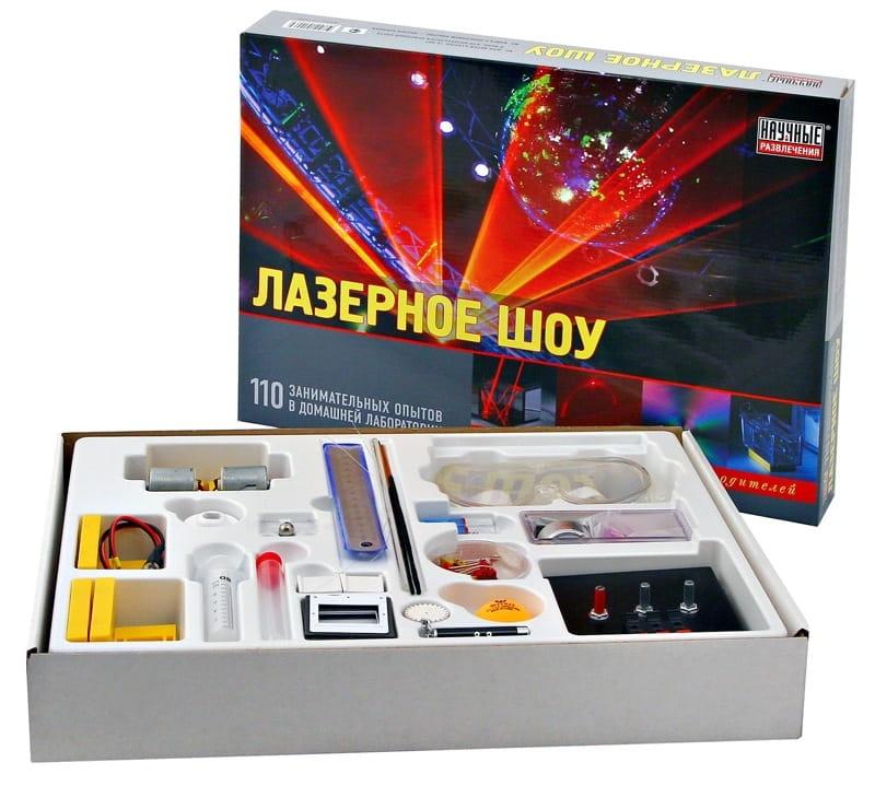 Набор для опытов Научные развлечения Лазерное шоу (110 опытов)