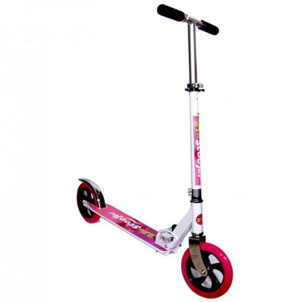 Купить Детский самокат 21st Scooter L200 - розовый в интернет магазине игрушек и детских товаров