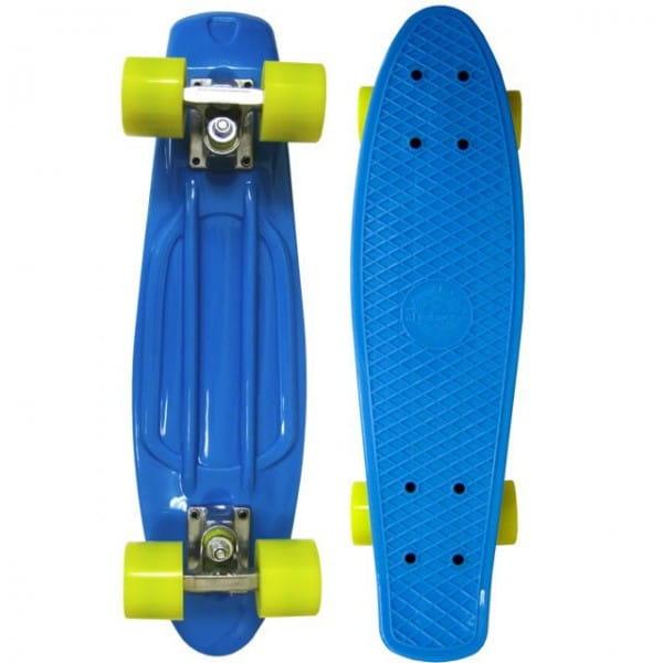 Скейтборд Ecobalance ОВ-2165 - синий с желтыми колесами