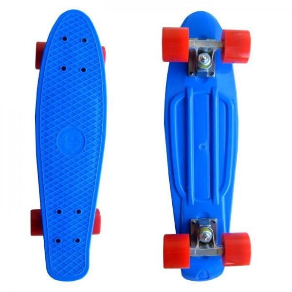 Купить Скейтборд Ecobalance - синий с красными колесами в интернет магазине игрушек и детских товаров