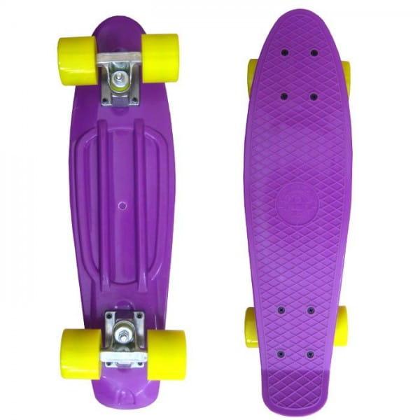 Скейтборд Ecobalance - фиолетовый с желтыми колесами