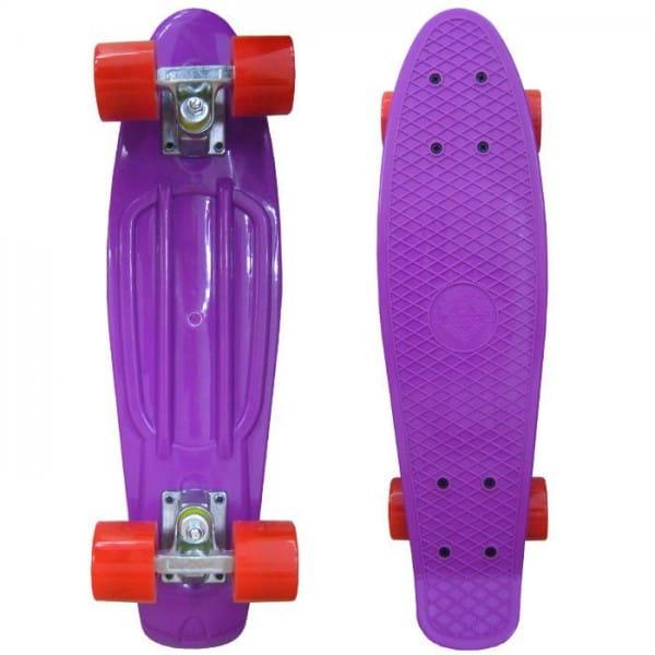 Скейтборд Ecobalance - фиолетовый с красными колесами