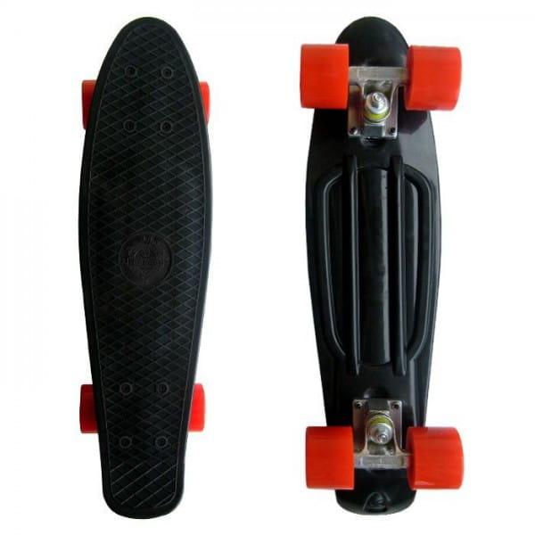 Скейтборд Ecobalance - черный с красными колесами