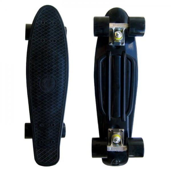 Скейтборд Ecobalance - черный с черными колесами