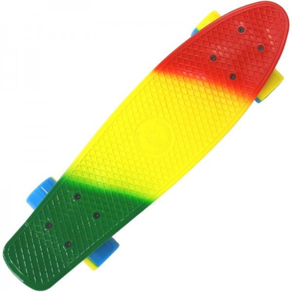 Купить Скейтборд Shark 22 TLS-401M зеленый-желтый-красный в интернет магазине игрушек и детских товаров