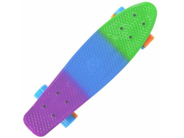 Купить Скейтборд Shark 22 TLS-401M фиолетовый-зеленый-синий в интернет магазине игрушек и детских товаров