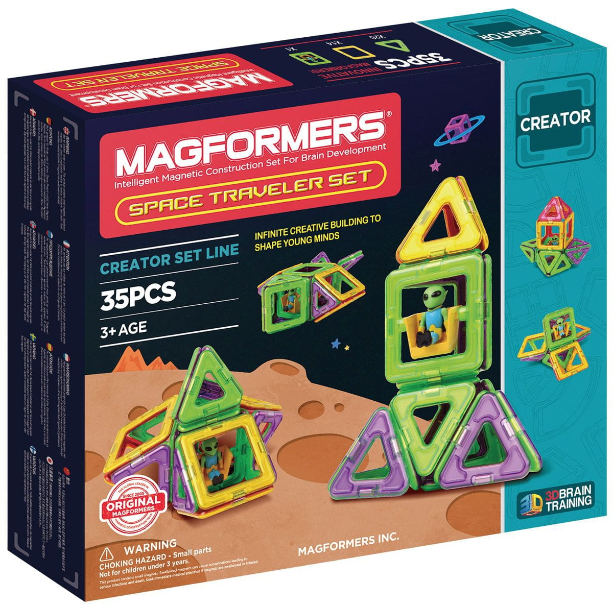 Магнитный конструктор Magformers 703007 Space Treveller set (35 деталей)