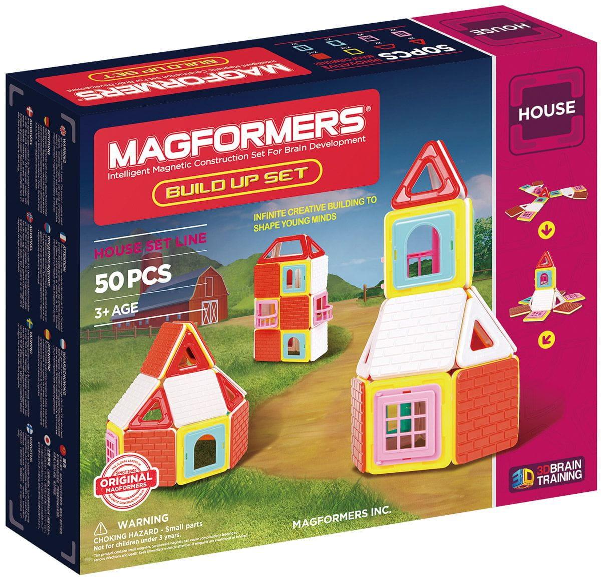 Магнитный конструктор Magformers 705003 Build Up Set (50 деталей)
