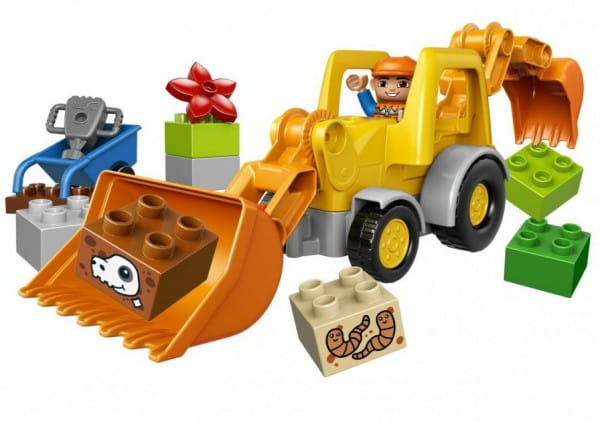 Купить Конструктор Lego Duplo Лего Дупло Экскаватор-погрузчик в интернет магазине игрушек и детских товаров