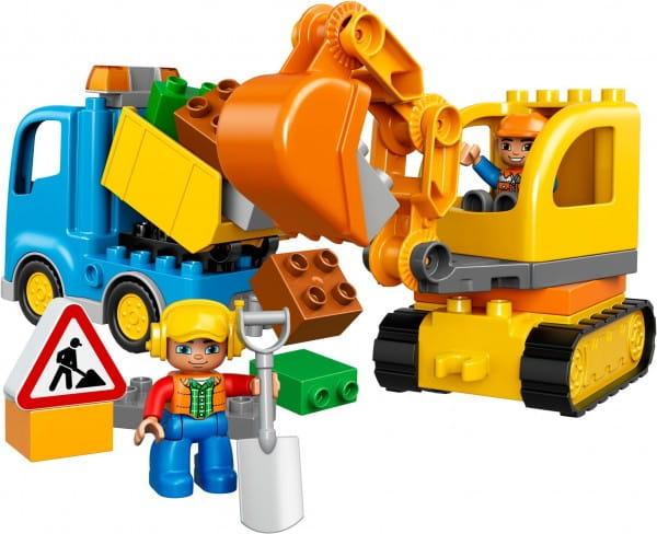 Купить Конструктор Lego Duplo Лего Дупло Грузовик и гусеничный экскаватор в интернет магазине игрушек и детских товаров