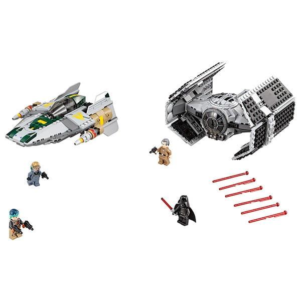 Конструктор Lego Star Wars Лего Звездные войны Усовершенствованный истребитель СИД Дарта Вейдера против Звездного Истребителя A-Wing