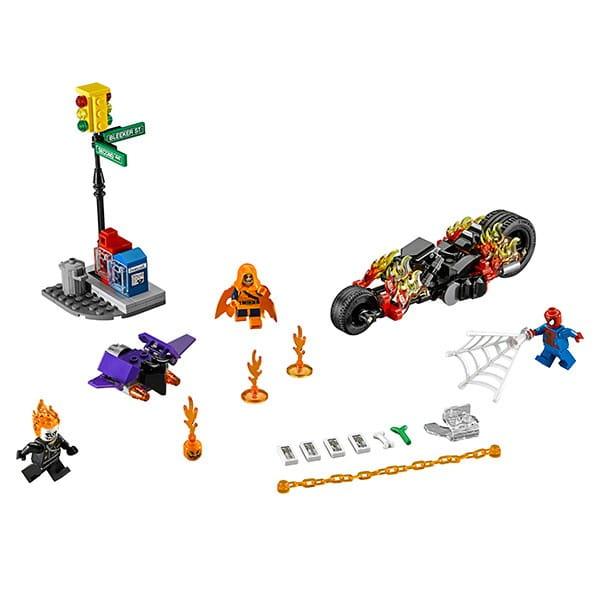 Конструктор Lego 76058 Super Heroes Лего Супер Герои Человек-паук - Союз с Призрачным гонщиком