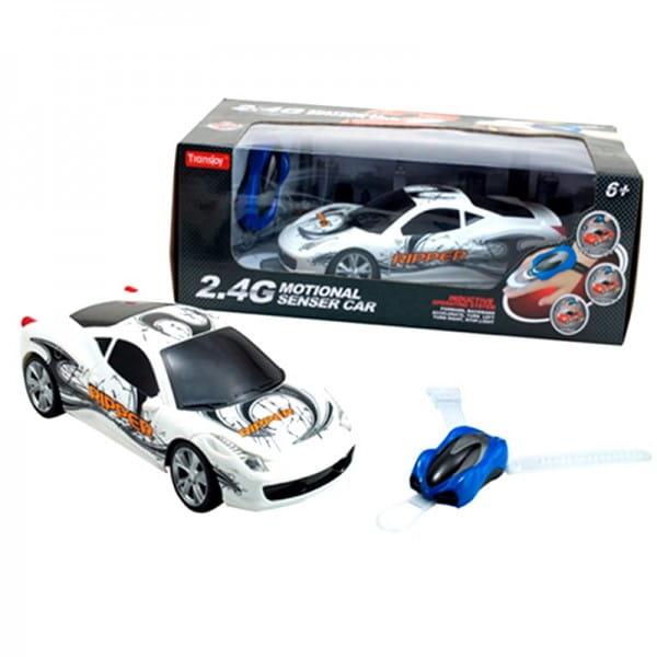 Купить Радиоуправляемая гоночная машина Yako с сенсорным пультом управления - белая в интернет магазине игрушек и детских товаров