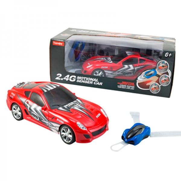 Купить Радиоуправляемая гоночная машина Yako с сенсорным пультом управления - красная в интернет магазине игрушек и детских товаров