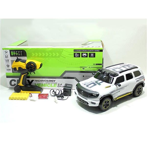 Купить Радиоуправляемая машина-внедорожник Yako с аккумулятором - белая в интернет магазине игрушек и детских товаров