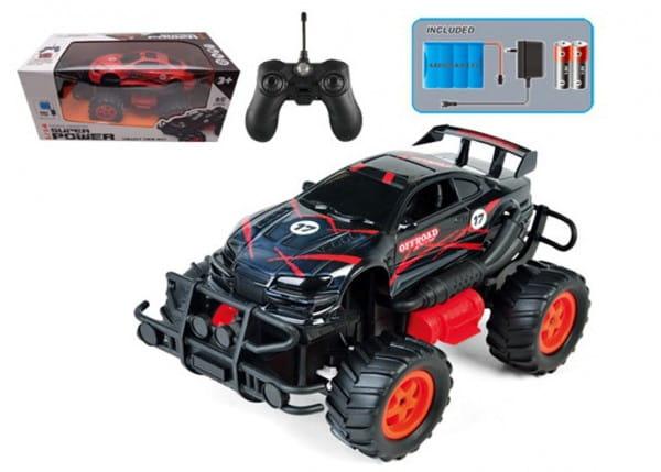 Купить Радиоуправляемая машина-внедорожник Yako с аккумулятором - черная в интернет магазине игрушек и детских товаров