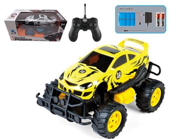 Купить Радиоуправляемая машина-внедорожник Yako с аккумулятором - желтая в интернет магазине игрушек и детских товаров
