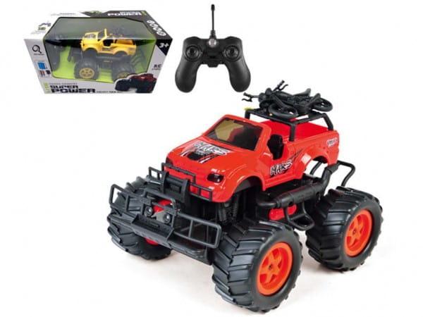 Купить Радиоуправляемая машина-внедорожник Yako с аккумулятором и световыми эффектами - красная в интернет магазине игрушек и детских товаров