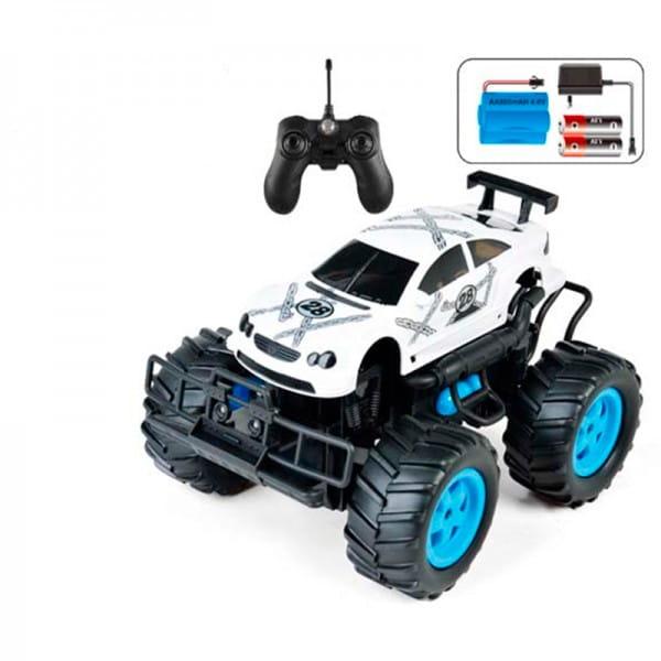 Купить Радиоуправляемая машина-внедорожник Yako с аккумулятором и световыми эффектами - белая в интернет магазине игрушек и детских товаров