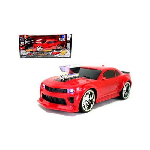 Купить Радиоуправляемая машина Yako с аккумулятором и световыми эффектами - красная в интернет магазине игрушек и детских товаров