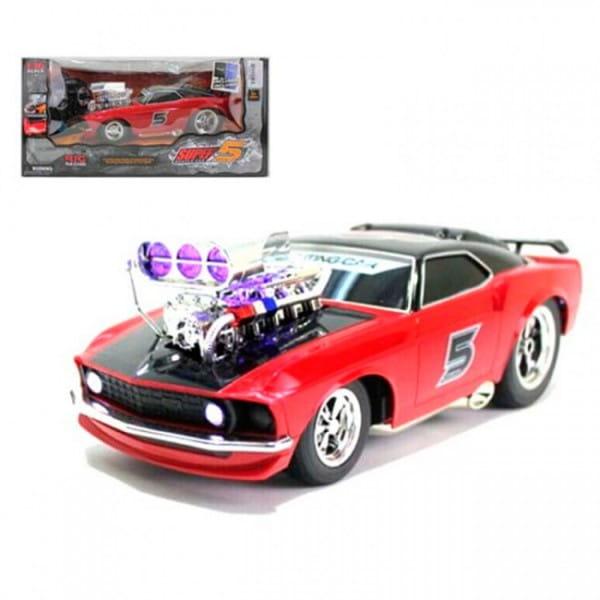 Купить Радиоуправляемая гоночная машина Yako с аккумулятором и световыми эффектами в интернет магазине игрушек и детских товаров