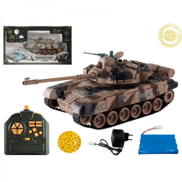 Купить Радиоуправляемый танк Yako М Т90 1:18 - хаки в интернет магазине игрушек и детских товаров