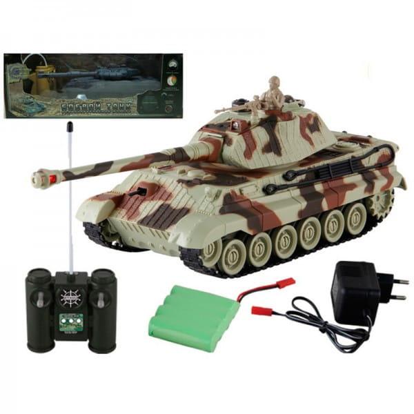 Купить Радиоуправляемый танк Yako М Королевский тигр 1:24 в интернет магазине игрушек и детских товаров