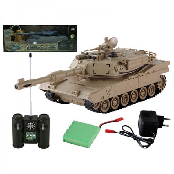 Купить Радиоуправляемый танк Yako М М1А2 (Абрамс) 1:24 - бежевый в интернет магазине игрушек и детских товаров