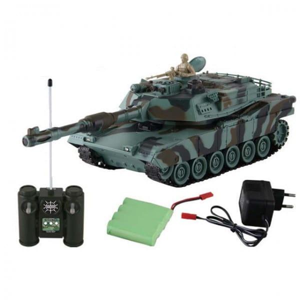 Купить Радиоуправляемый танк Yako М М1А2 (Абрамс) 1:24 - зеленый в интернет магазине игрушек и детских товаров