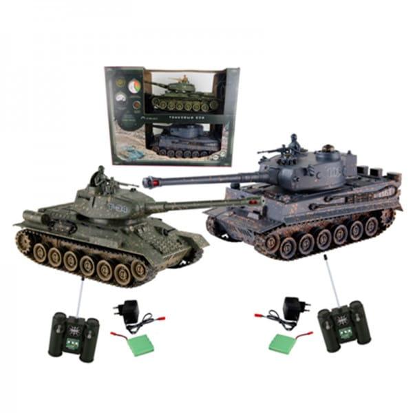Танковый бой Yako М Т34 против Тигра 1:24 - 6121