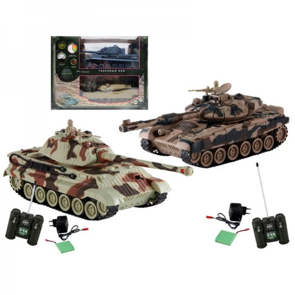 Танковый бой Yako М Т90 против Королевского тигра 1:24 - хаки