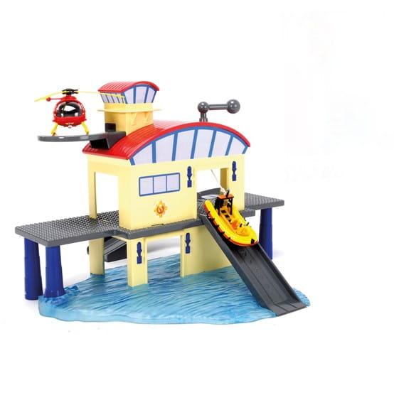 Купить Игровой набор Fireman Sam Пожарный Сэм Морской гараж с лодкой (Dickie) в интернет магазине игрушек и детских товаров