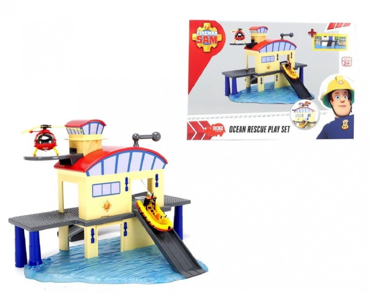 Игровой набор Fireman Sam 3099616 Пожарный Сэм Морской гараж с лодкой (Dickie)