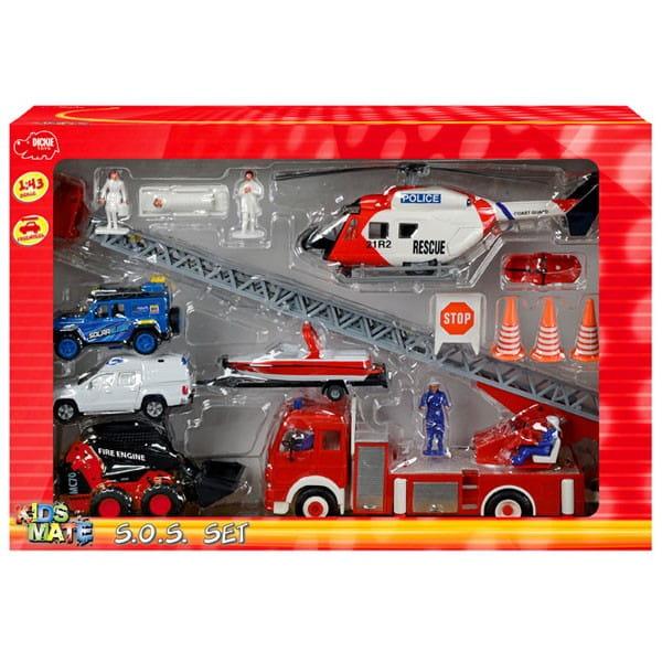 Игровой набор Dickie 3314558 Спасательная служба 1:43