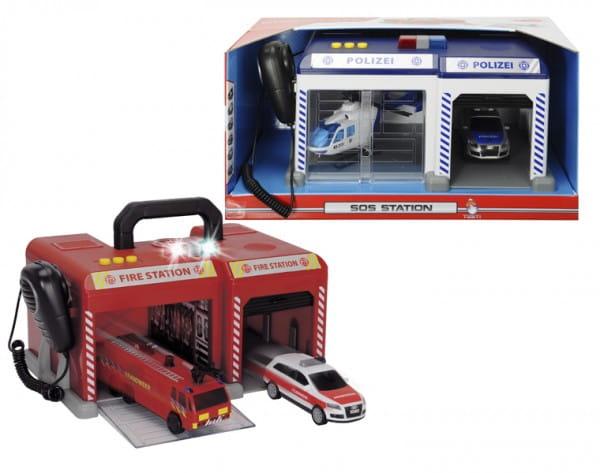 Купить Игровой набор Dickie Спасательная станция (со звуковыми эффектами) в интернет магазине игрушек и детских товаров