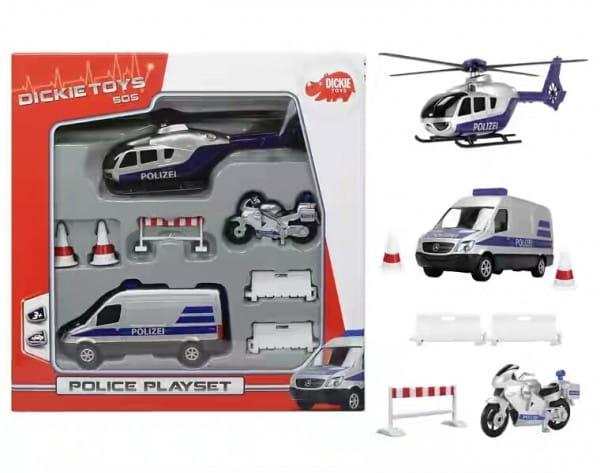 Игровой набор Dickie Полицейская техника