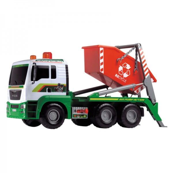 Мусоровоз Dickie MAN AirPump с большим контейнером - 48 см