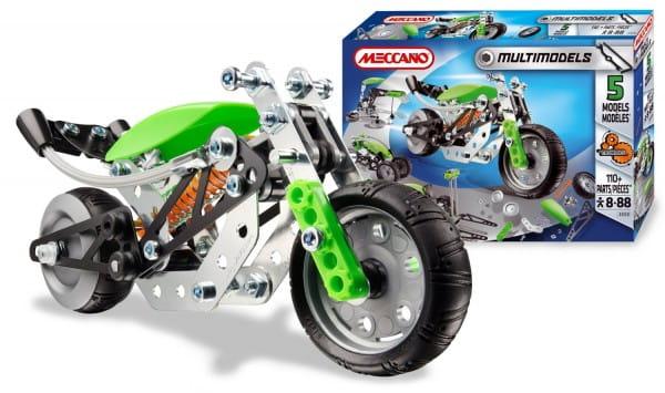 Купить Конструктор Meccano Multimodels Мотоцикл - 5 моделей в интернет магазине игрушек и детских товаров