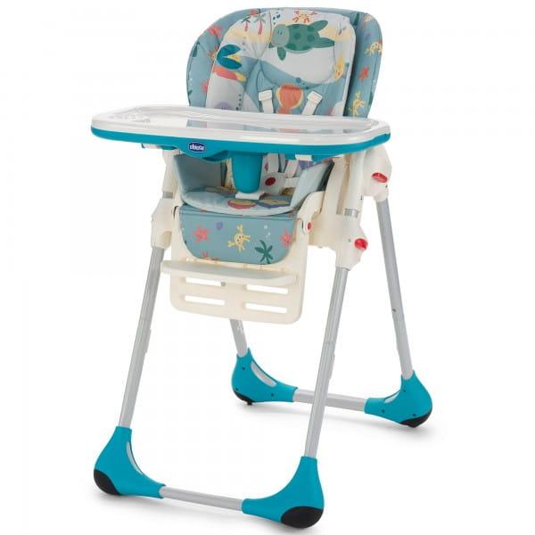 Купить Стульчик для кормления Chicco Polly 2 в 1 - Sea Dreams в интернет магазине игрушек и детских товаров