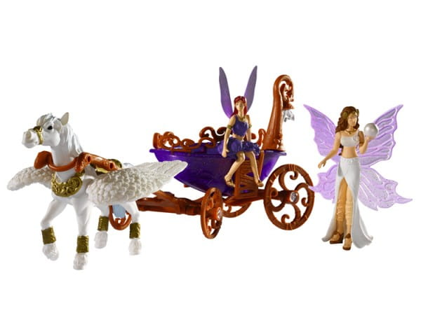 Игровой набор Simba 4418530 Лошадка с каретой (со светом)