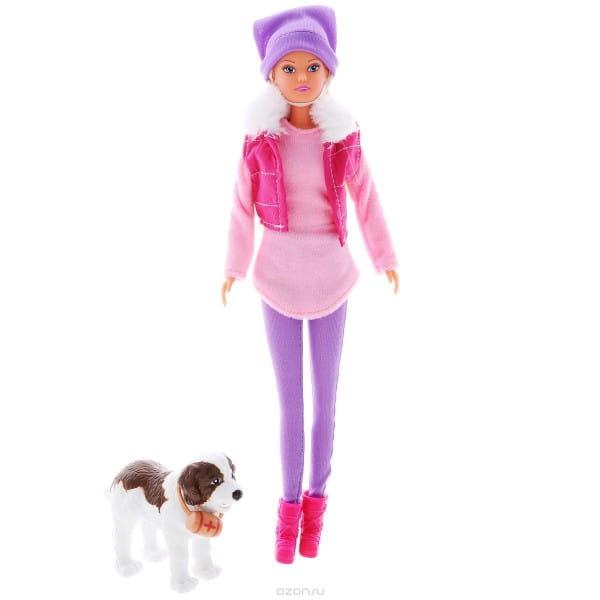 Кукла Steffi Штеффи на прогулке с собакой (Simba)
