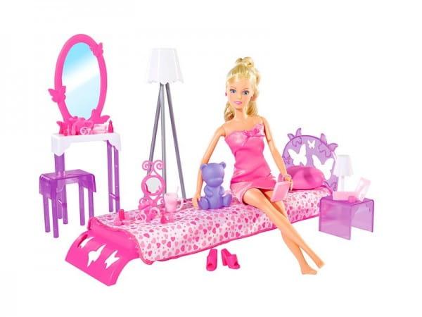 Кукла Steffi Штеффи в спальной комнате (Simba)