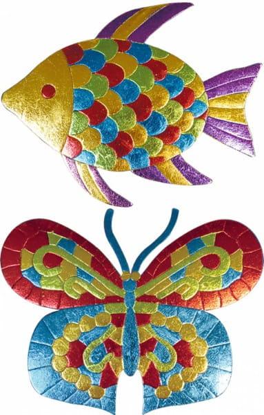 Купить Мозаика из фольги Simba Рыбка и бабочка в интернет магазине игрушек и детских товаров