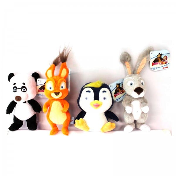Плюшевая игрушка-погремушка Simba Маша и Медведь