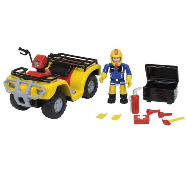Игровой набор Fireman Sam Пожарный Сэм Квадроцикл Меркурий со светом (Simba)