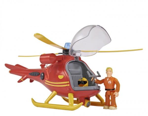 Игровой набор Fireman Sam Пожарный Сэм Вертолет со светом и звуком (Simba)