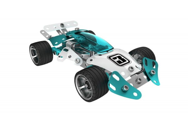 Купить Конструктор Meccano Turbo Прототип 3 - голубой (2 модели) в интернет магазине игрушек и детских товаров