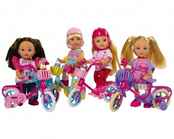 Игровой набор Evi Еви на горном велосипеде (Simba)