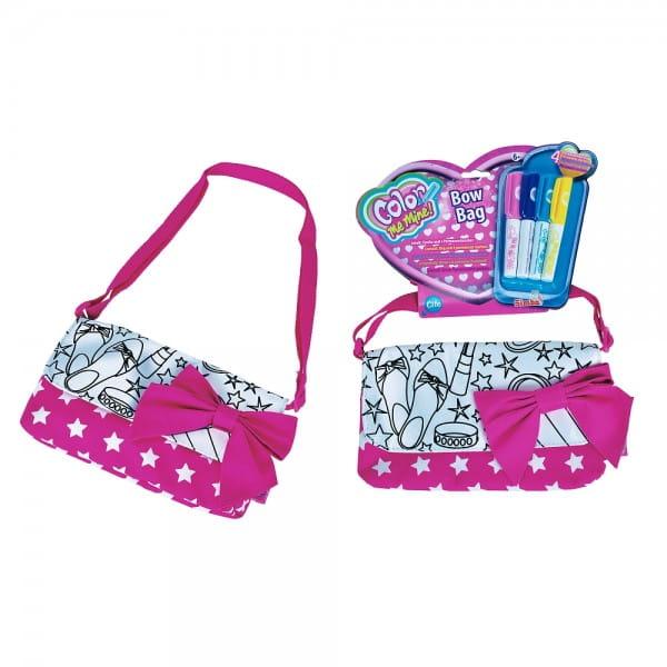 Мини-сумочка Сolor me mine с бантиком и 4 перманентных маркера (Simba)